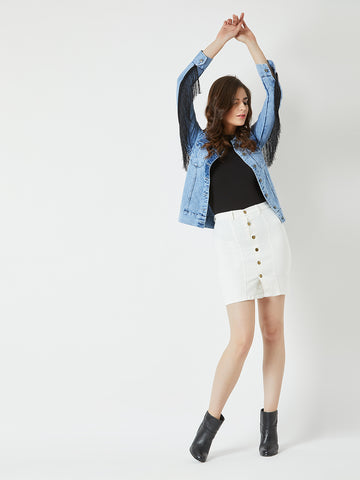 Just Another Day Denim Skirt