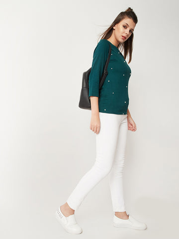 High Talks Pearl Zip Top