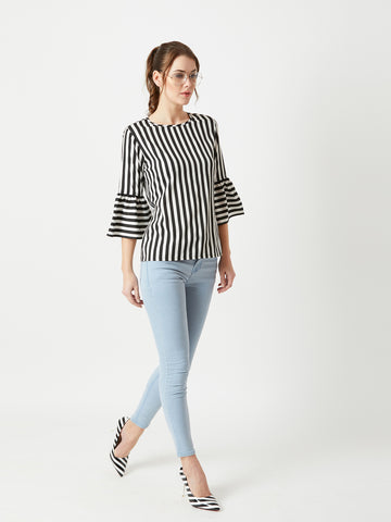 Dinner Night Ruffle Sleeve Top