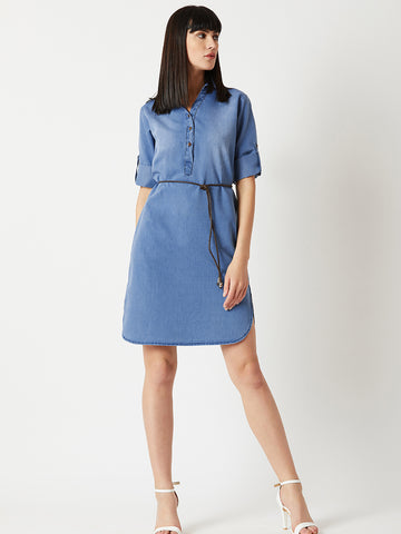 Just The Right Denim Dress