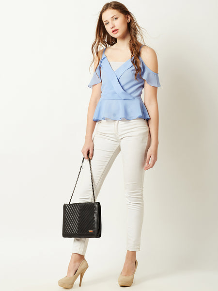 Retreat This Summer Cold Shoulder Top