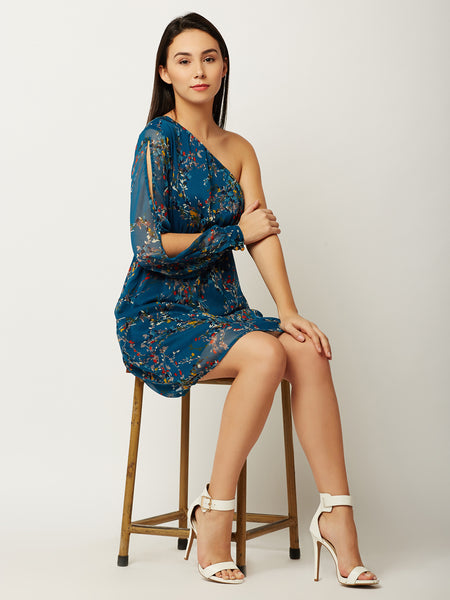 Box Of Lies One Shoulder Dress