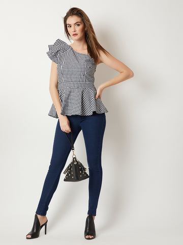 Bare Bone One Shoulder Ruffle Top