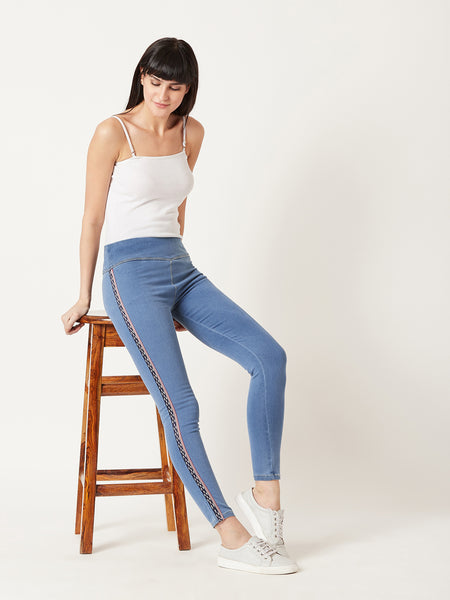 Creativity Takes Courage Twill Jeggings