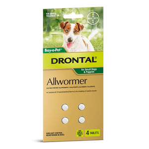 Drontal Allwormer Chewable for Dogs - 3kg (4 pack)