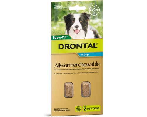 Drontal Allwormer Chewable for Dogs - 10kg