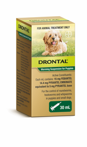 Drontal Allwormer Worming Suspension for Puppies - 30ml