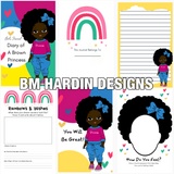 Diary of A Brown Princess Premade Journal Template