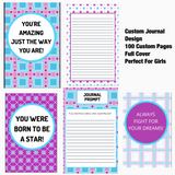 Girls Wear Blue Too Premade Journal Design
