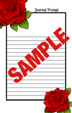 Premade Journal/Planner Template: Red Roses