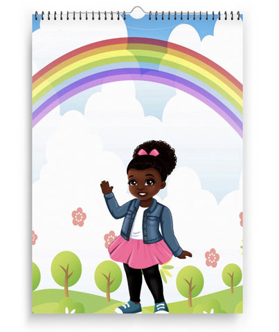 Little Girls & Rainbows Notepad