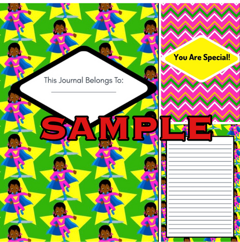She's So Super Girls Premade Journal Design