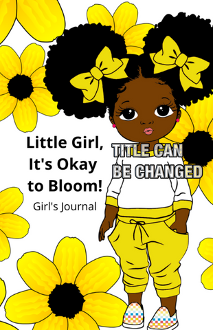 Bloom Little Brown Girl Premade Journal Template