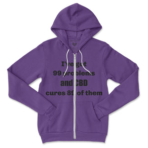 CBD Cures 89 of Them Zip Hoodie