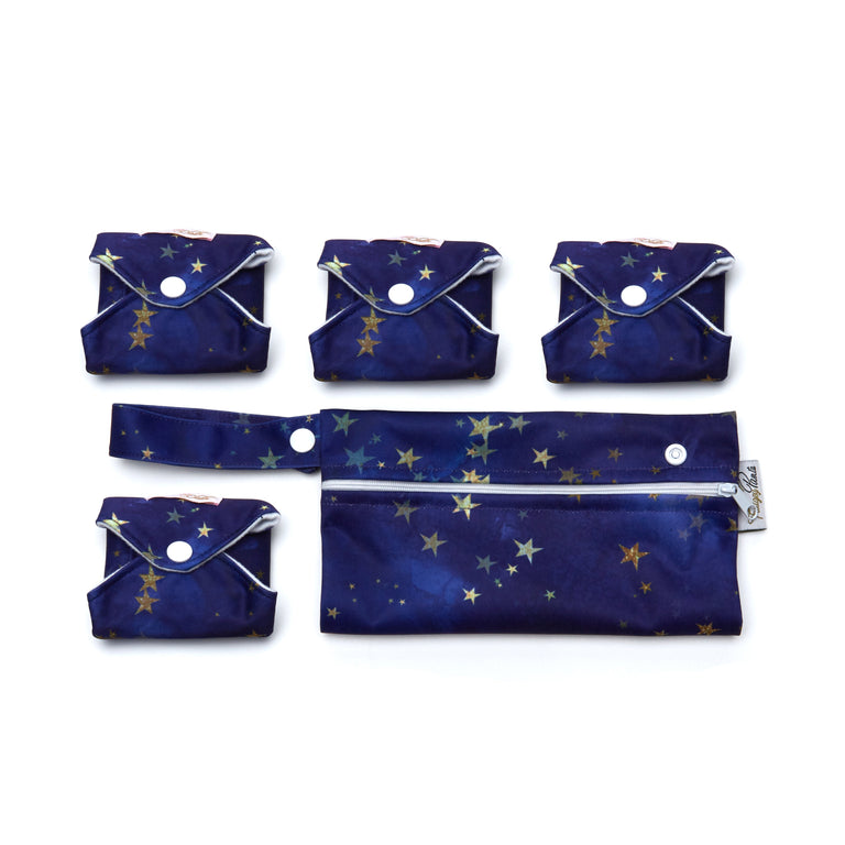 Starry Night Reusable Panty Liner - 3 Pack
