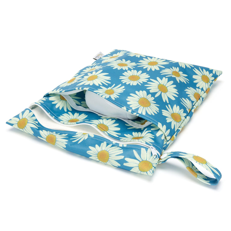 Double Pocket Wet Bag - Daisy Field - Fudgey Pants