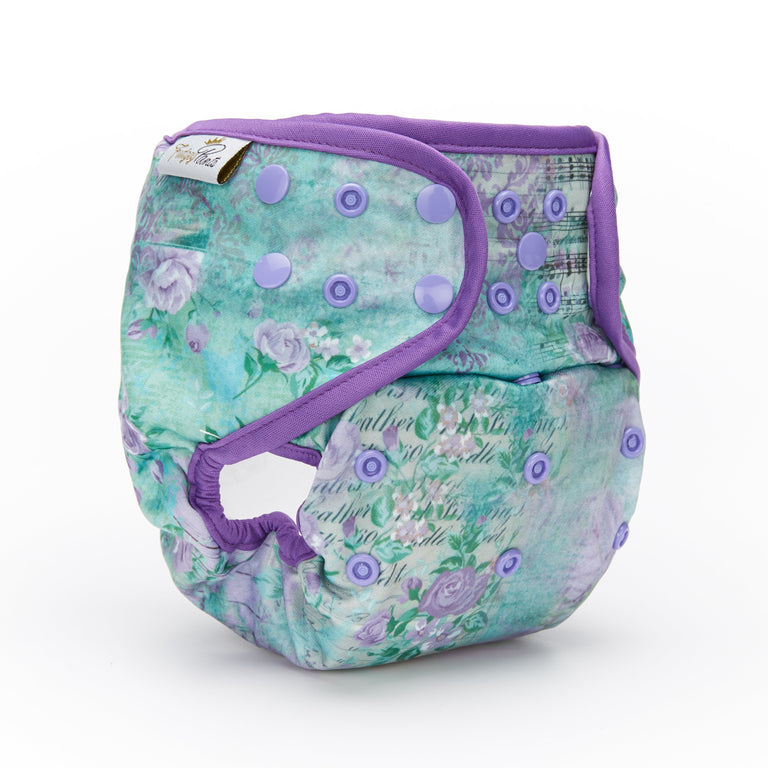 Nappy Shell 3'n'1 Pant - Violet Damask