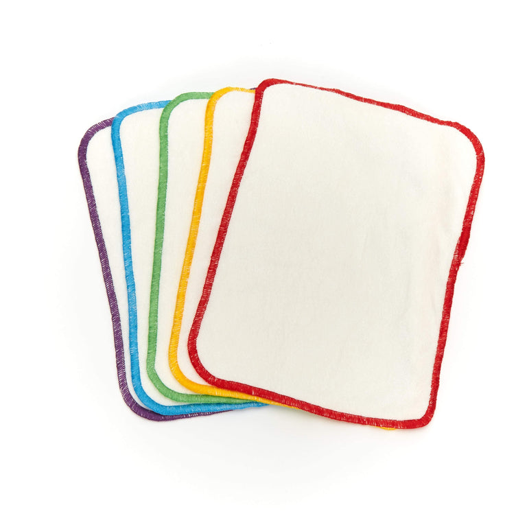 5 Pack - Reusable Bamboo Terry Wipes - Fudgey Pants