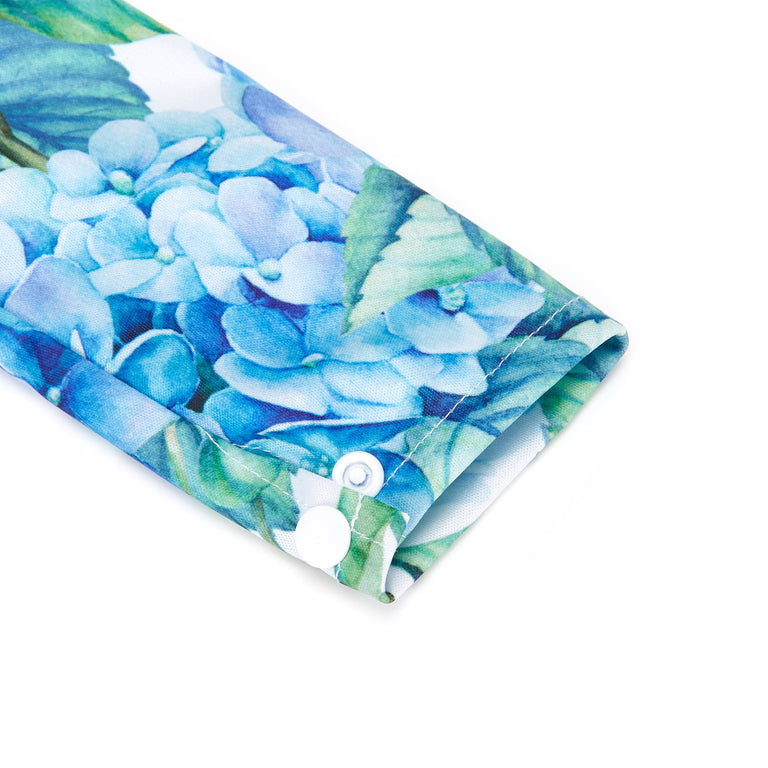 Hydrangea Macrophyllum Sleeved Bib - Fudgey Pants