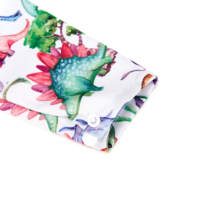Dinosauria Sleeved Bib - Fudgey Pants