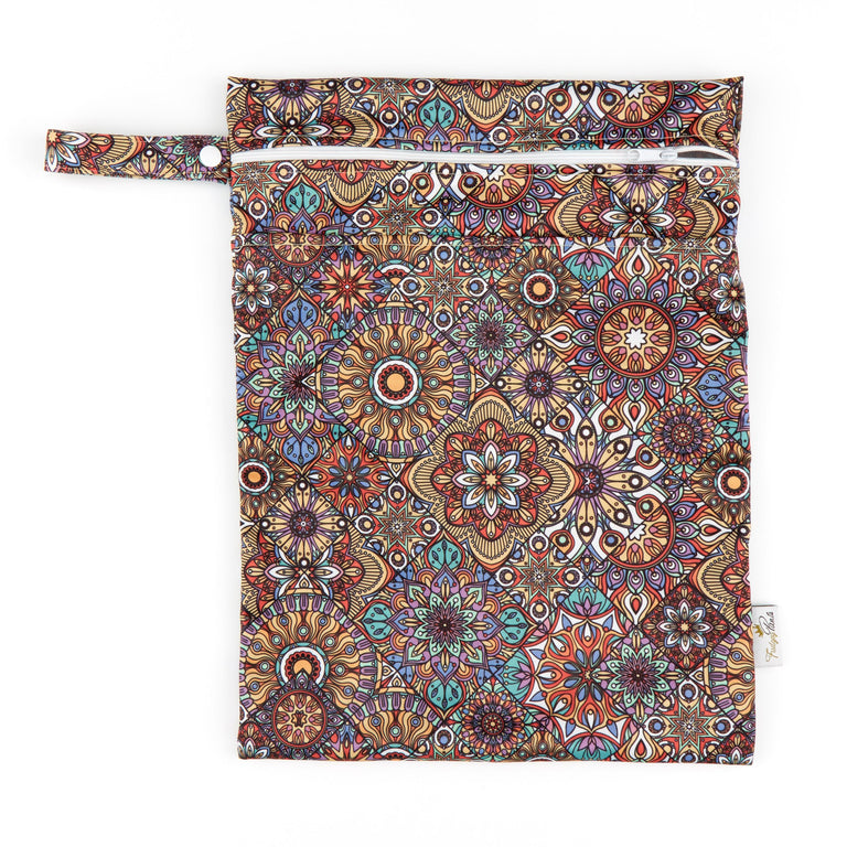 Double Pocket Wet Bag - Mandala