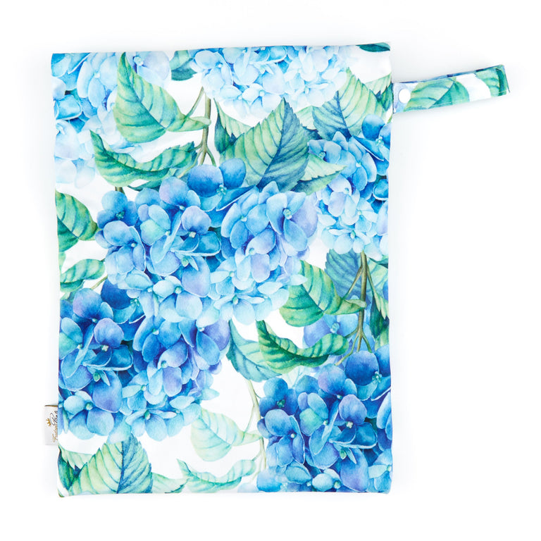 Double Pocket Wet Bag - Hydrangea Macrophylla