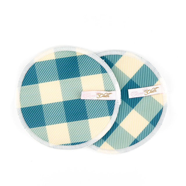Queen Cloth Breast Pads - Gingham
