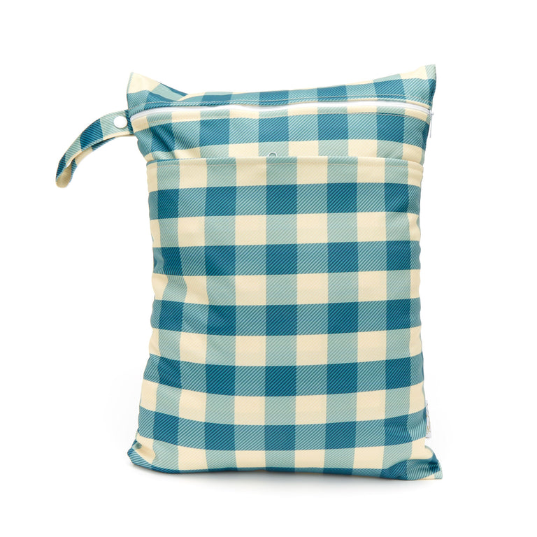 Double Pocket Wet Bag - Gingham