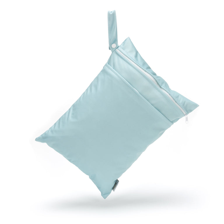 Double Pocket Wet Bag - Chalk Blue - Fudgey Pants