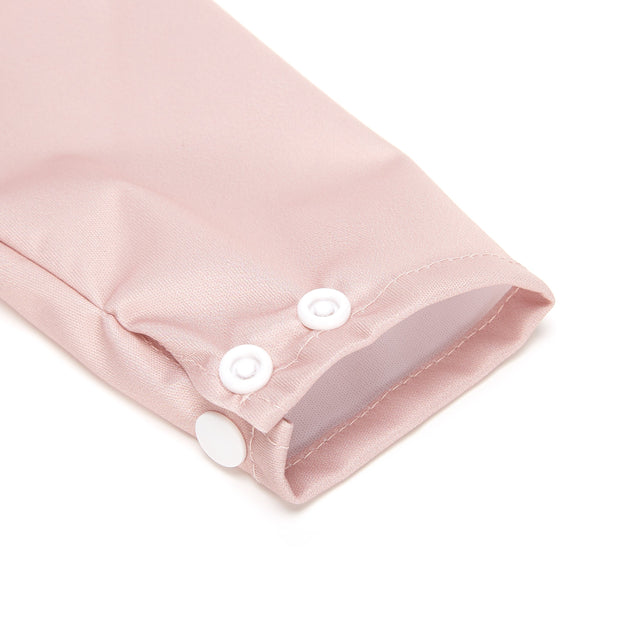 Dusty Rose Sleeved Bib - Fudgey Pants