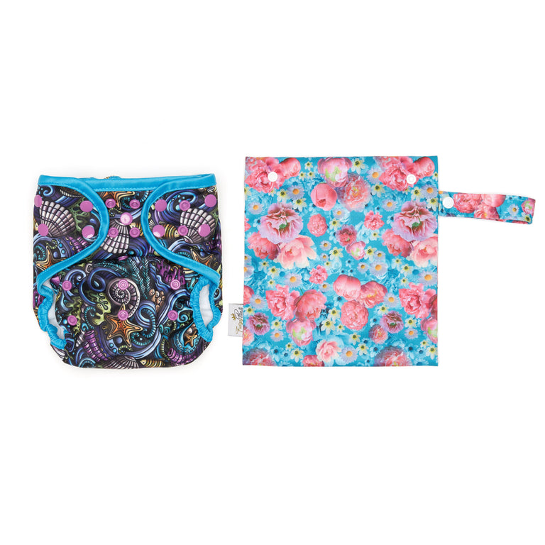 Mini Wet Bag - Peony Passion - Fudgey Pants