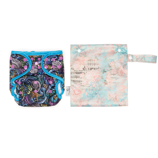 Mini Wet Bag - Rose Song - Fudgey Pants