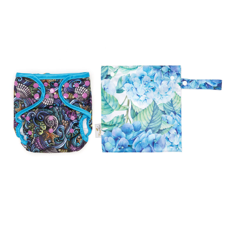 Mini Wet Bag - Hydrangea - Fudgey Pants