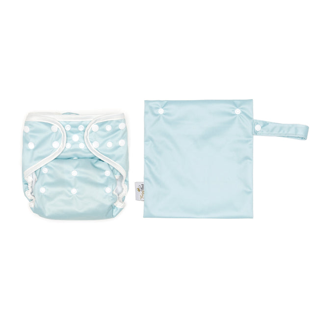 Mini Wet Bag - Chalk Blue - Fudgey Pants