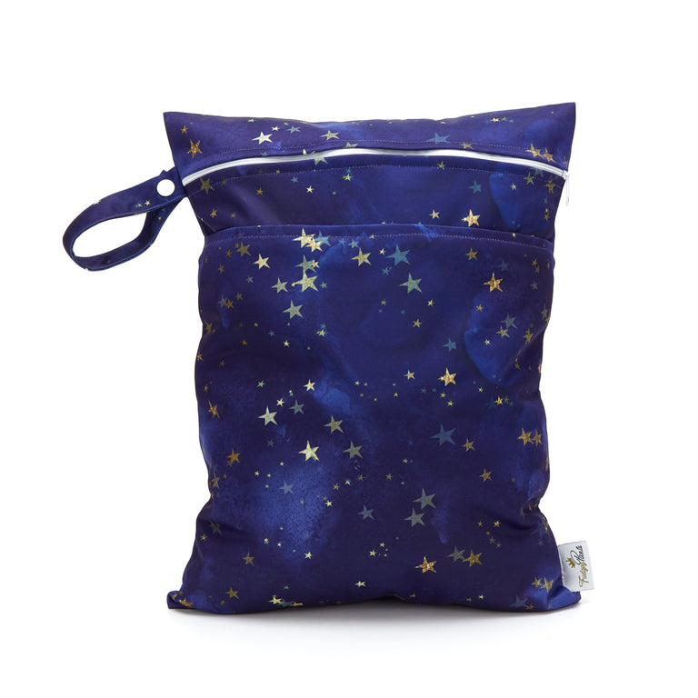 Double Pocket Wet Bag - Starry Night - Fudgey Pants