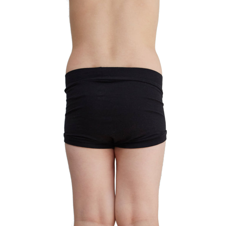 Girls Bamboo & Organic Cotton Underwear - Black