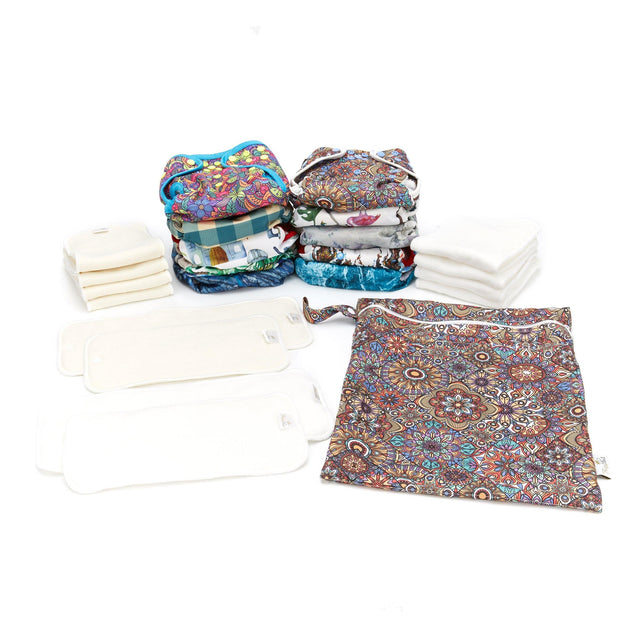 Fudgey CLOTH NAPPY Starter 10 Pack -  25% OFF