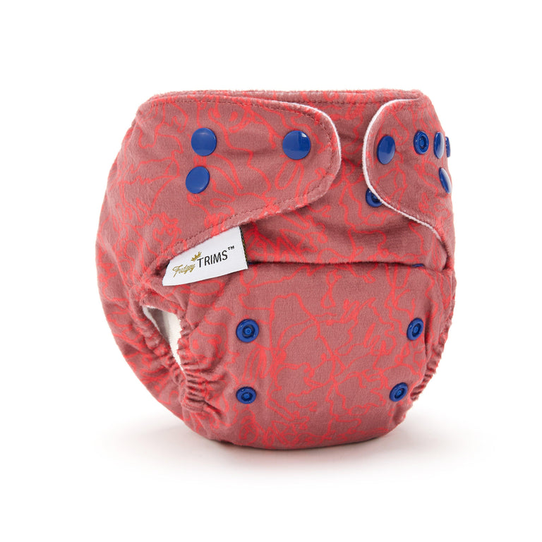 Fudgey TRIMS™ Pocket Nappy - Squiggle (Minky)