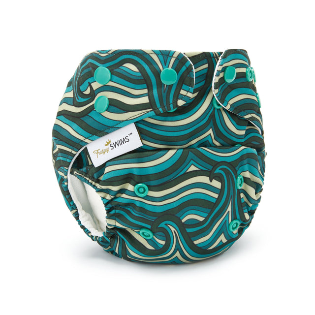 Fudgey SWIMS™ Swim Nappy - Ocean Waves - Fudgey Pants