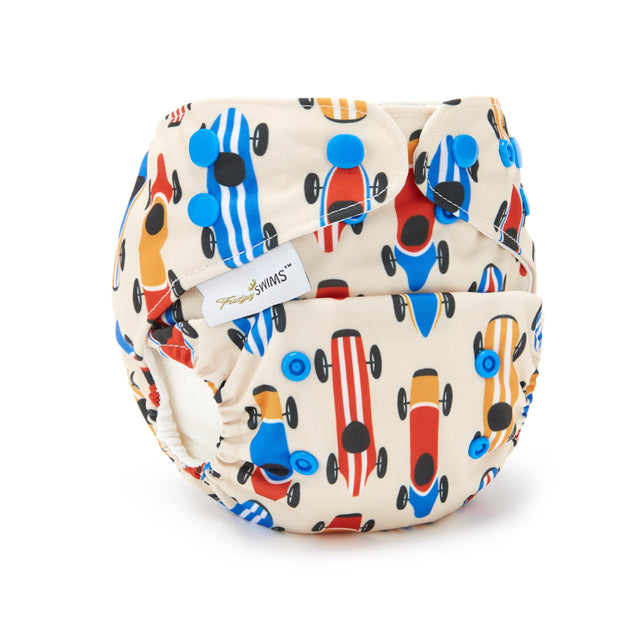 Fudgey SWIMS™ Swim Nappy - Retro Racer - Fudgey Pants