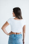 Livy&Kate Exclusive: Half Tee in White