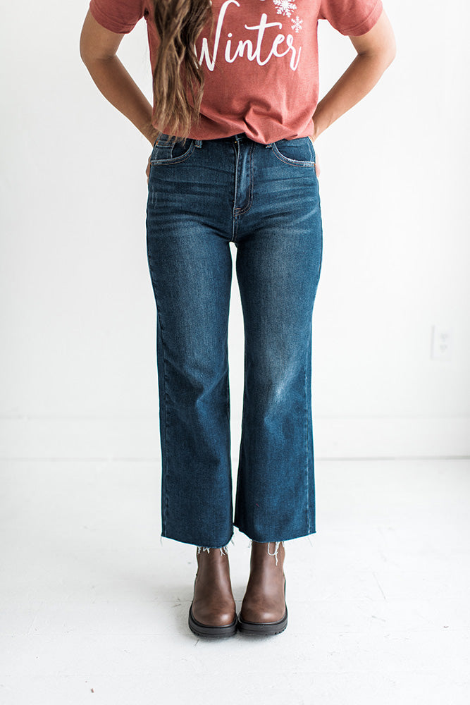 Everett Wide Leg Crop Jeans