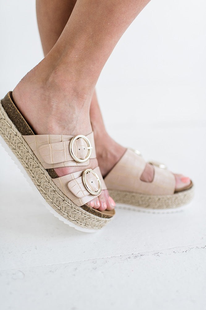 Prim Double Strap Platform in Natural