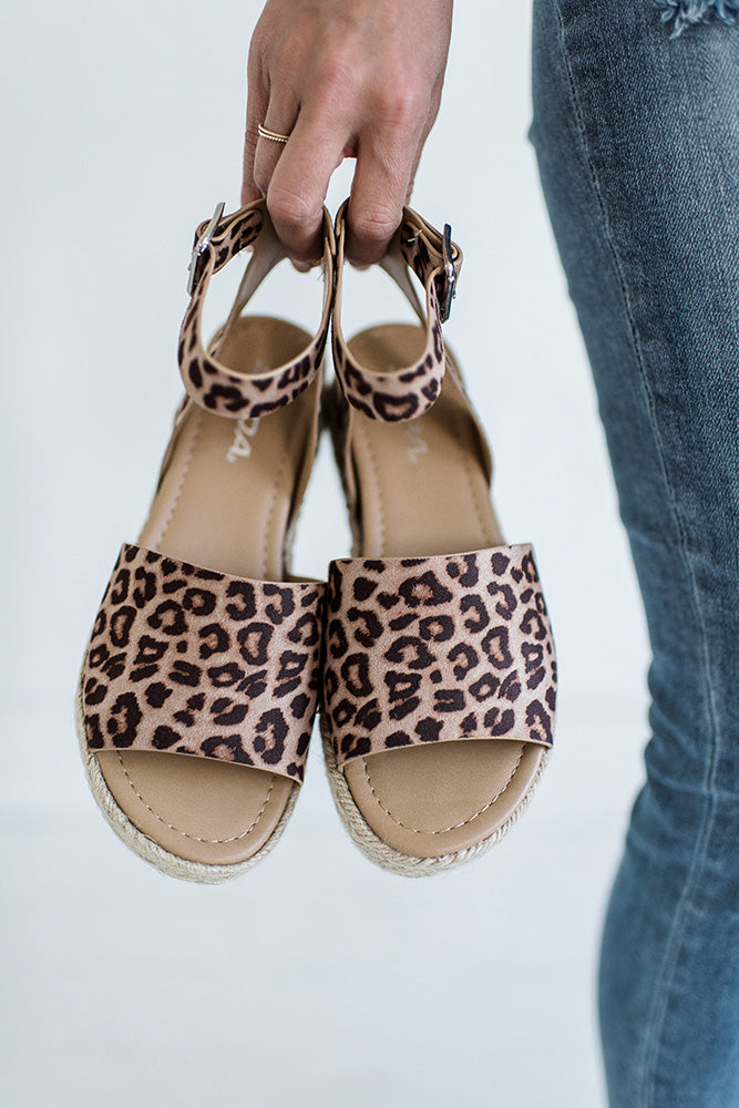 Topic Platform Sandal in Cheetah