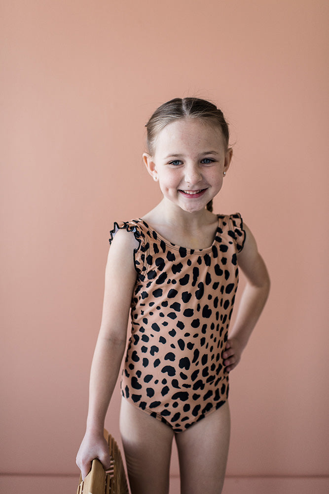 Kids Ruffle Leopard One Piece