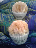 "Goat's Milk Mini ""Cupcake"" Soap w/embedded Natural Sea Sponge (Aegean Sea)"