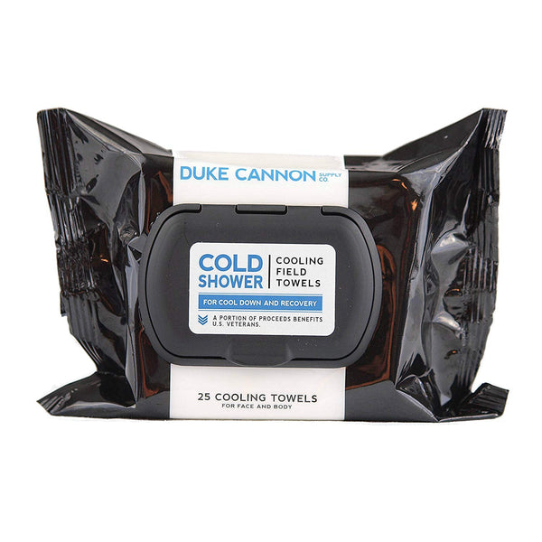 "Duke Cannon""Cold Shower"" Cooling Field Towels - For Face and Body (25 Count)"