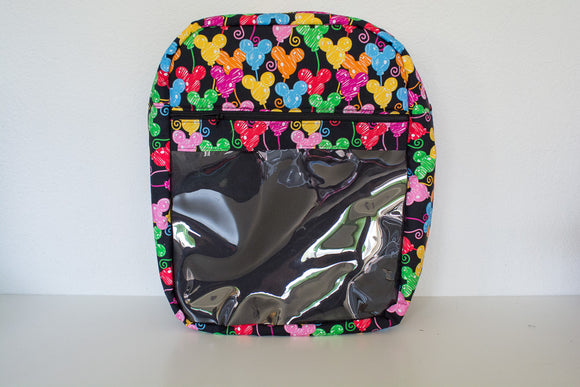 Black Mickey Balloons Backpack