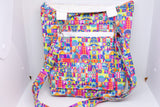 Quilted Convertible Purse - Colorful Small World