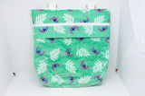 Quilted Convertible Purse - Teal Stitch